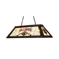 ELK Lighting Tiffany 4 Light Billiard/Island in Dark Mahogany Wood 70082-4