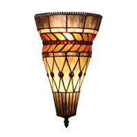 ELK Lighting Glass Leaf 2 Light Wall Sconce in Tiffany Bronze 70084-2