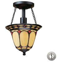 ELK Lighting Diamond Ring 1 Light Semi Flush in Burnished Copper with Recessed Conversion Kit 70089-1-LA