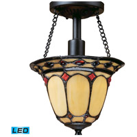 ELK Lighting Diamond Ring 1 Light LED Semi Flush in Burnished Copper 70089-1-LED