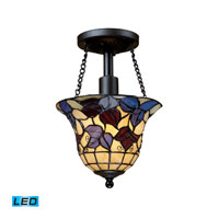 ELK Lighting Signature 1 Light Semi-Flush Mount in Tiffany Bronze 70091-1-LED
