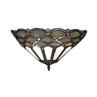 Gameroom 2 Light 16 inch Tiffany Bronze Wall Sconce Wall Light