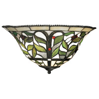 Latham 2 Light 16 inch Tiffany Bronze Wall Sconce Wall Light