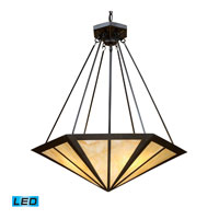 ELK Lighting Oak Park 3 Light Pendant in Tiffany Bronze 70107-3-LED