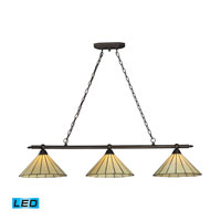 ELK Lighting Lumino 3 Light Billiard/Island in Matte Black 70108-3-LED