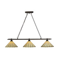 ELK Lighting Lumino 3 Light Billiard/Island in Matte Black 70108-3