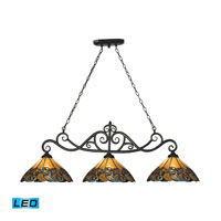 ELK Lighting Gameroom 3 Light Billiard/Island in Tiffany Bronze 70110-3-LED