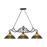 ELK Lighting Gameroom 3 Light Billiard/Island in Tiffany Bronze 70110-3