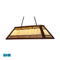 Filigree LED 44 inch Dark Mahogany Wood Billiard/Island Ceiling Light