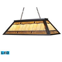 Filigree LED 44 inch Tiffany Bronze Billiard/Island Ceiling Light