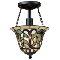 Latham 1 Light 8 inch Tiffany Bronze Semi-Flush Mount Ceiling Light in Standard