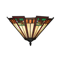 Oak Bridge 2 Light 15 inch Tiffany Bronze Wall Sconce Wall Light