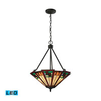 Oak Bridge LED 20 inch Tiffany Bronze Pendant Ceiling Light