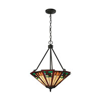Oak Bridge 3 Light 20 inch Tiffany Bronze Pendant Ceiling Light