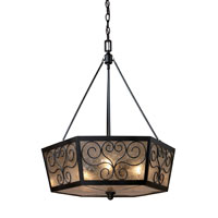 Windsor 3 Light 22 inch Tiffany Bronze Chandelier Ceiling Light