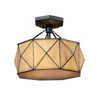ELK Lighting Grand Facet 3 Light Semi-Flush Mount in Tiffany Bronze 70151-3