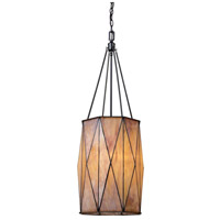 Grand Facet 3 Light 13 inch Tiffany Bronze Pendant Ceiling Light