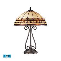 ELK Lighting Diamond Ring 2 Light Table Lamp in Burnished Copper 70165-2-LED photo thumbnail