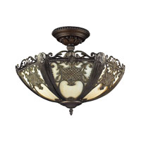 ELK Lighting Mount Bethel 2 Light Semi-Flush Mount in Tiffany Bronze 70181-2