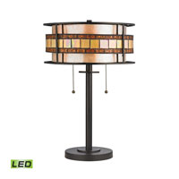 ELK Lighting Annondale LED Table Lamp in Tiffany Bronze 70191-2-LED
