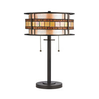 Annondale 14 inch 60 watt Tiffany Bronze Table Lamp Portable Light