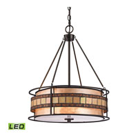 ELK Lighting Annondale LED Pendant in Tiffany Bronze 70196-3-LED