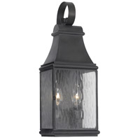 Jefferson 2 Light 18 inch Charcoal Outdoor Wall Sconce
