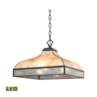 Santa Fe LED 16 inch Tiffany Bronze Pendant Ceiling Light