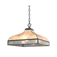 Santa Fe 3 Light 16 inch Tiffany Bronze Pendant Ceiling Light in Standard