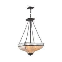 Santa Fe 3 Light 16 inch Tiffany Bronze Chandelier Ceiling Light in Standard
