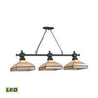Santa Fe LED 60 inch Tiffany Bronze Billiard Ceiling Light