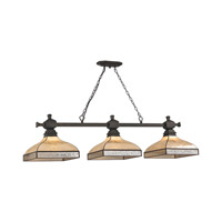 Santa Fe 3 Light 60 inch Tiffany Bronze Billiard Ceiling Light in Standard