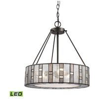 Ethan LED 18 inch Tiffany Bronze Chandelier Ceiling Light