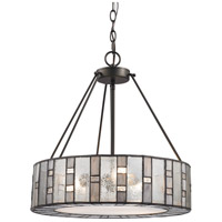 Ethan 3 Light 18 inch Tiffany Bronze Chandelier Ceiling Light in Standard
