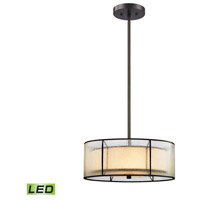 Mirage LED 16 inch Tiffany Bronze Chandelier Ceiling Light