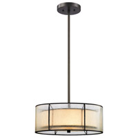 Mirage 3 Light 16 inch Tiffany Bronze Chandelier Ceiling Light in Standard