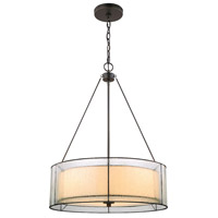 Mirage 3 Light 21 inch Tiffany Bronze Chandelier Ceiling Light