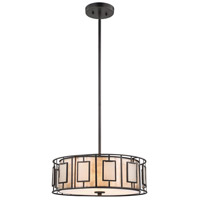 Minden 3 Light 18 inch Tiffany Bronze Chandelier Ceiling Light