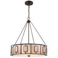 Minden 3 Light 24 inch Tiffany Bronze Chandelier Ceiling Light