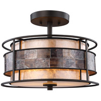 Tremont 2 Light 14 inch Tiffany Bronze Semi Flush Mount Ceiling Light