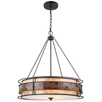 ELK 70264/3 Tremont 3 Light 24 inch Tiffany Bronze Chandelier Ceiling Light