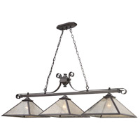 Plano 3 Light 54 inch Iron Rust Billiard Light Ceiling Light
