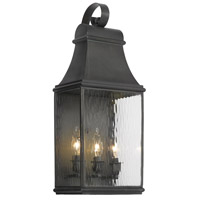 Jefferson 3 Light 22 inch Charcoal Outdoor Wall Sconce