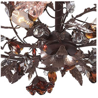 ELK 7046/3 Cristallo Fiore 3 Light 27 inch Deep Rust Semi Flush Mount Ceiling Light alternative photo thumbnail