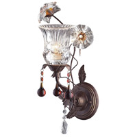 ELK 7050/1 Cristallo Fiore 1 Light 6 inch Deep Rust Sconce Wall Light