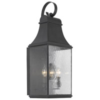 ELK 706-C Jefferson 3 Light 27 inch Charcoal Outdoor Sconce