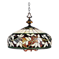 English Ivy 6 Light 20 inch Tiffany Bronze Pendant Ceiling Light