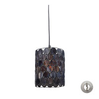 Cirque 1 Light 7 inch Matte Black Pendant Ceiling Light in Recessed Adapter Kit