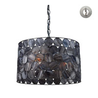 ELK Lighting Cirque 3 Light Pendant in Matte Black with Recessed Conversion Kit 72003-3-LA