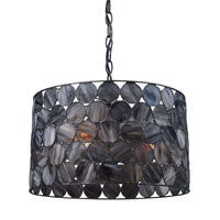 Cirque 3 Light 16 inch Matte Black Pendant Ceiling Light in Standard